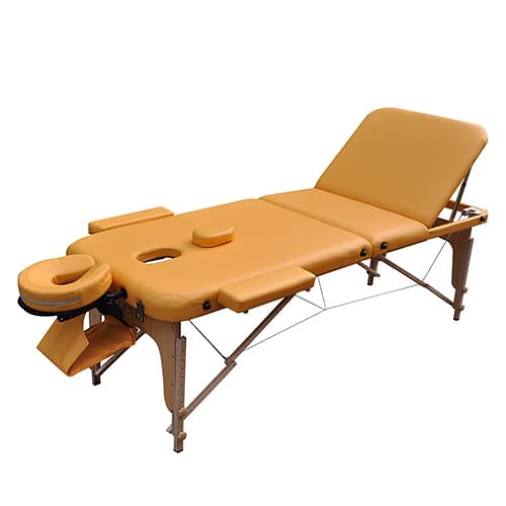 Стол массажный складной Zenet ZET-1047 размер L желтый