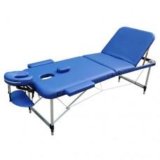 Массажный стол с регулировкой высоты Zenet ZET-1049 размер L синий